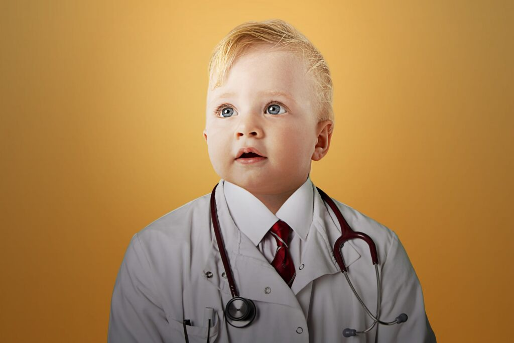 baby doctor exhibiting tolerance in medical field